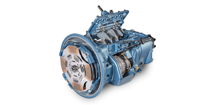Commercial vehicle transmission on a white background