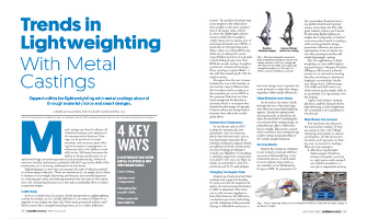 Trends in Lightweighting with Metal Castings