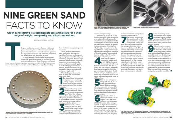 Nine Green Sand Facts to Know | Metal Casting Design & Purchasing